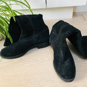 Tall Black Suede Boots - Browns